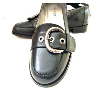 New! Nine West black leather loafers